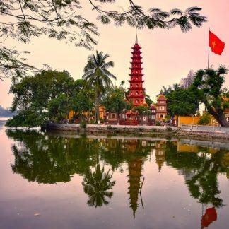fine art print chua tran quoc pagoda hanoi vietnam