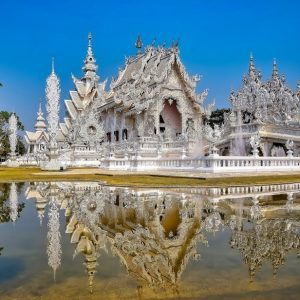 fine art print the white temple wat rong khun chiang rai thailand
