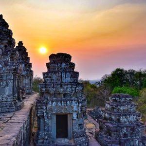 fine art print phnom bakheng angkor cambodia