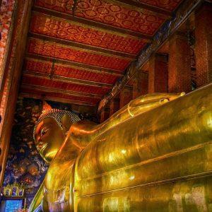 fine art print the reclining buddha wat pho bangkok thailand