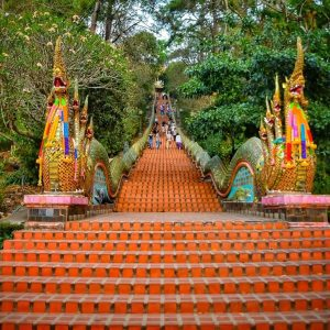 fine art print wat phra doi suthep chiang mai thailand