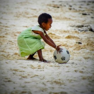 fine art print child on the beach zanzibar tanzania