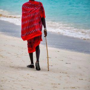 fine art print masai man zanzibar tanzania