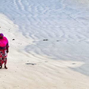 fine art print woman on the beach zanzibar tanzania