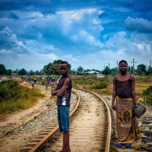 fine art print a boy and a girl on tracks dar es salaam tanzania
