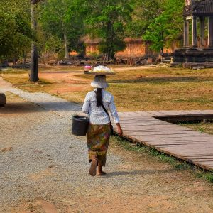 fine art print fruit vendor angkor cambodia