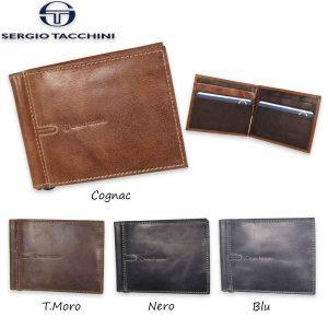 Sergio Tacchini Men's Leather Money Clip Wallet