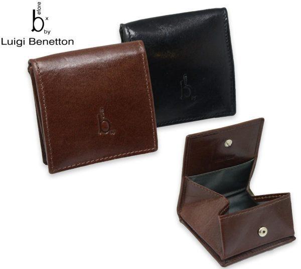 Luigi Benetton Men's Leather Coin Purse Wallet