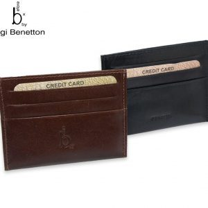 Luigi Benetton Leather Card Holder